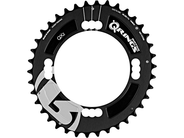 Rotor MTB QX2 Chainring 3-speed/2-speed centre black